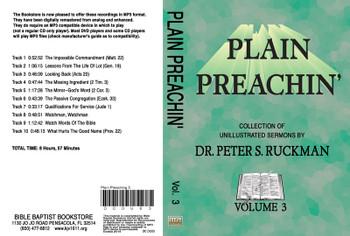 Plain Preachin' Volume 3 - MP3