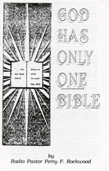 God Has Only One Bible