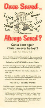 Once Saved...Always Saved? - Tract