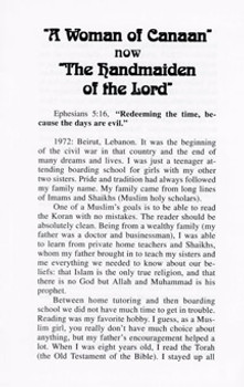 The Handmaiden of the Lord (A Woman of Canaan) - Tract