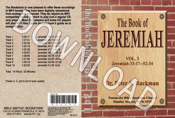 Jeremiah, Volume 3 - Downloadable MP3