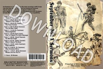 September 2013 Sermons - Downloadable MP3