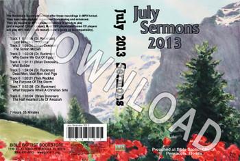 July 2013 Sermons - Downloadable MP3