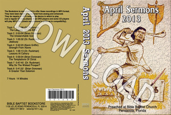 April 2013 Sermons - Downloadable MP3