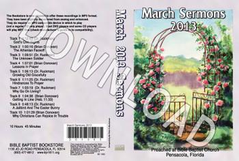 March 2013 Sermons - Downloadable MP3