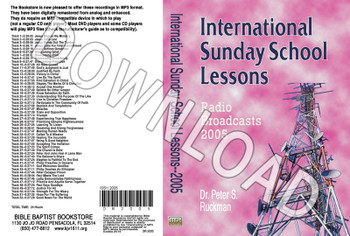International Sunday School Lessons 2005 - Downloadable MP3