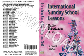 International Sunday School Lessons 2004 - Downoadable MP3