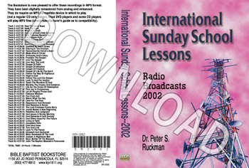 International Sunday School Lessons 2002 - Downloadable MP3