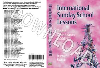 International Sunday School Lessons 2006 - Downloadable MP3