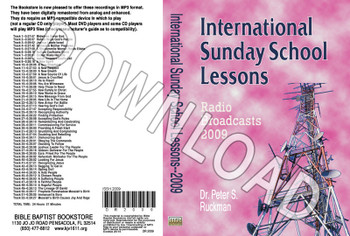 International Sunday School Lessons 2009 - Downloadable MP3