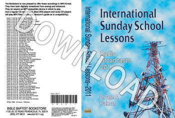 International Sunday School Lessons 2011 - Downloadable MP3