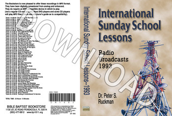 International Sunday School Lessons 1993 - Downloadable MP3