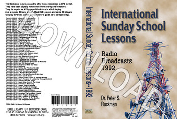 International Sunday School Lessons 1992 - Downloadable MP3