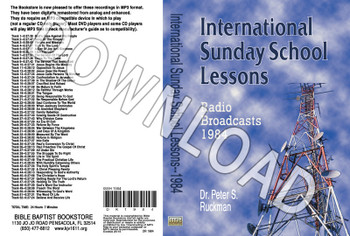 International Sunday School Lessons 1984 - Downloadable MP3