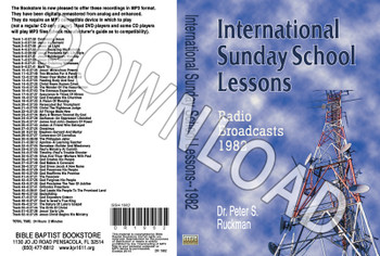 International Sunday School Lessons 1982 - Downloadable MP3