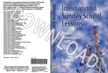 International Sunday School Lessons 1980 - Downloadable MP3
