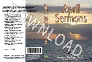 April 2012 Sermons - Downloadable MP3