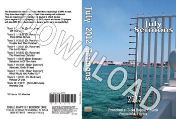 July 2012 Sermons - Downloadable MP3