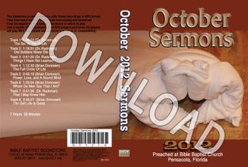 October 2012 Sermons - Downloadable MP3
