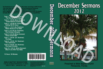 December 2012 Sermons - Downloadable MP3