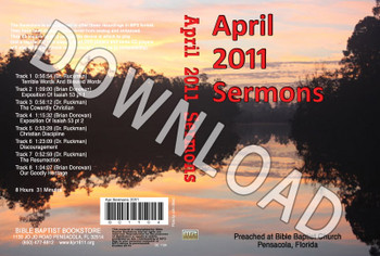 April 2011 Sermons - Downloadable MP3