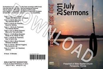 July 2011 Sermons - Downloadable MP3