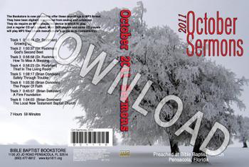 October 2011 Sermons - Downloadable MP3