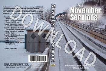 November 2011 Sermons - Downloadable MP3
