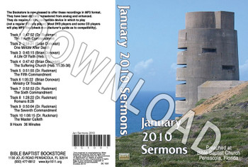 January 2010 Sermons - Downloadable MP3