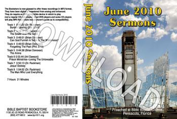 June 2010 Sermons - Downloadable MP3