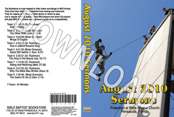 August 2010 Sermons - Downloadable MP3