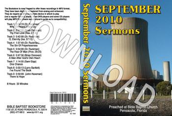 September 2010 Sermons - Downloadable MP3