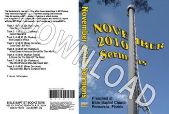 November 2010 Sermons - Downloadable MP3