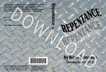 Brian Donovan: Repentance - Downloadable MP3