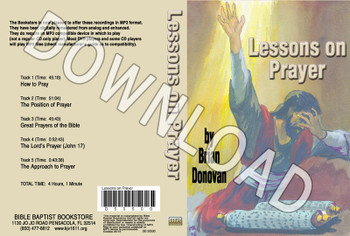 Brian Donovan: Lessons on Prayer - Downloadable MP3