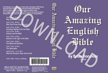 Brian Donovan: Our Amazing English Bible - Downloadable MP3