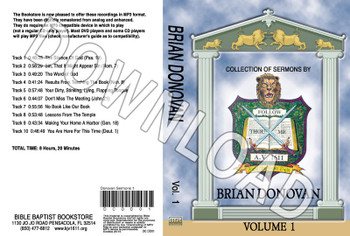 Brian Donovan: Sermons, Volume 1 - Downloadable MP3