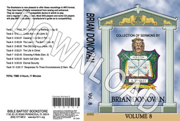 Brian Donovan: Sermons, Volume 8 - Downloadable MP3