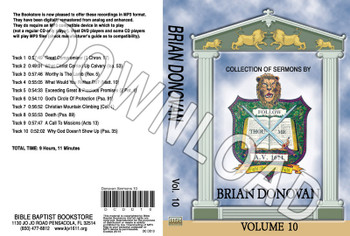 Brian Donovan: Sermons, Volume 10 - Downloadable MP3