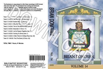 Brian Donovan: Sermons, Volume 14 - Downloadable MP3