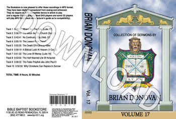 Brian Donovan: Sermons, Volume 17 - Downloadable MP3