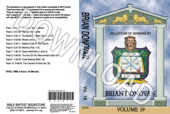 Brian Donovan: Sermons, Volume 19 - Downloadable MP3