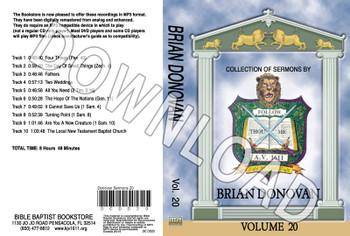 Brian Donovan: Sermons, Volume 20 - Downloadable MP3