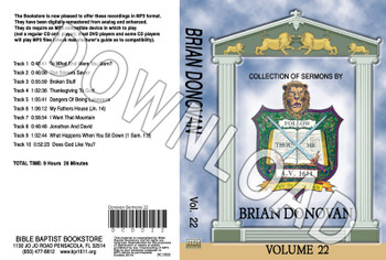 Brian Donovan: Sermons, Volume 22 - Downloadable MP3