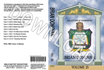 Brian Donovan: Sermons, Volume 25 - Downloadable MP3