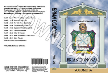 Brian Donovan: Sermons, Volume 26 - Downloadable MP3