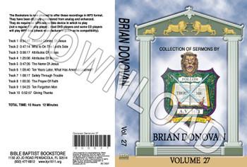 Brian Donovan: Sermons, Volume 27 - Downloadable MP3