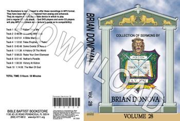 Brian Donovan: Sermons, Volume 28 - Downloadable MP3
