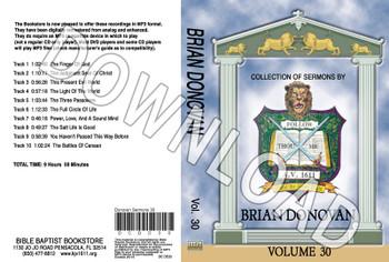 Brian Donovan: Sermons, Volume 30 - Downloadable MP3