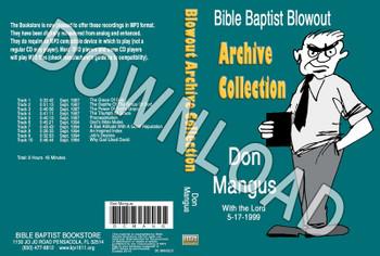Don Mangus: Bible Baptist Blowout Archive - Downloadable MP3